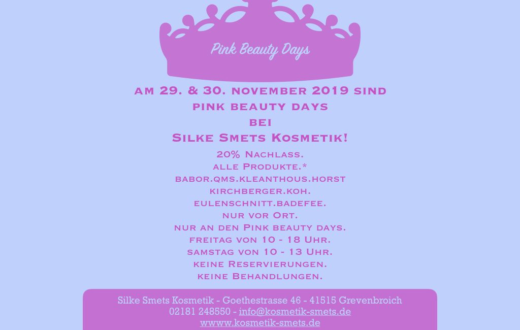 Pink Beauty Days